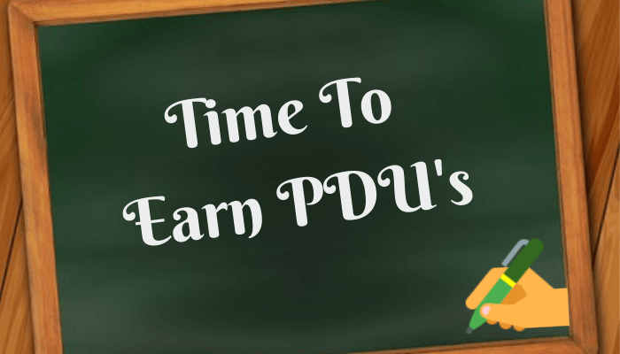 How To Earn PDU's Using 8 Easy Ways.